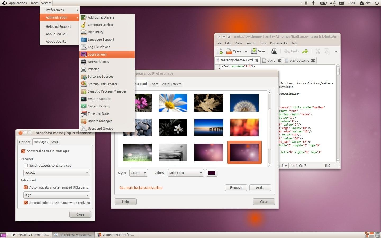 ubuntu 10.10 主题 themes