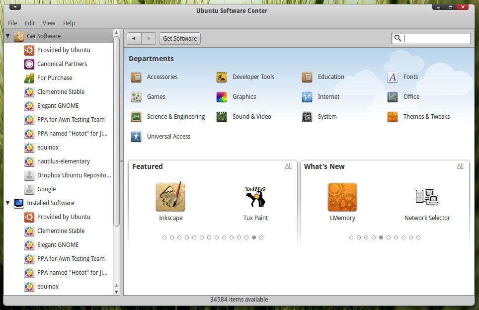ubuntu 10.10 软件中心 更新
